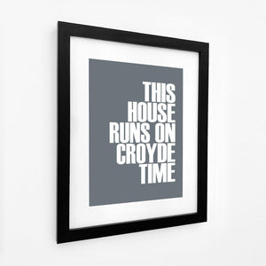 Croyde Time Typographic Travel Print- Coastal Wall Art /Poster-SeaKisses