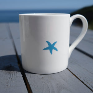 Sea Green Starfish Mug - Fine Bone China Coastal Design-SeaKisses