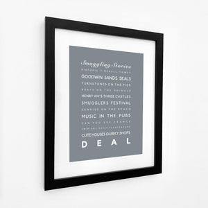 Deal Typographic Seaside Print - Coastal Wall Art /Poster-SeaKisses