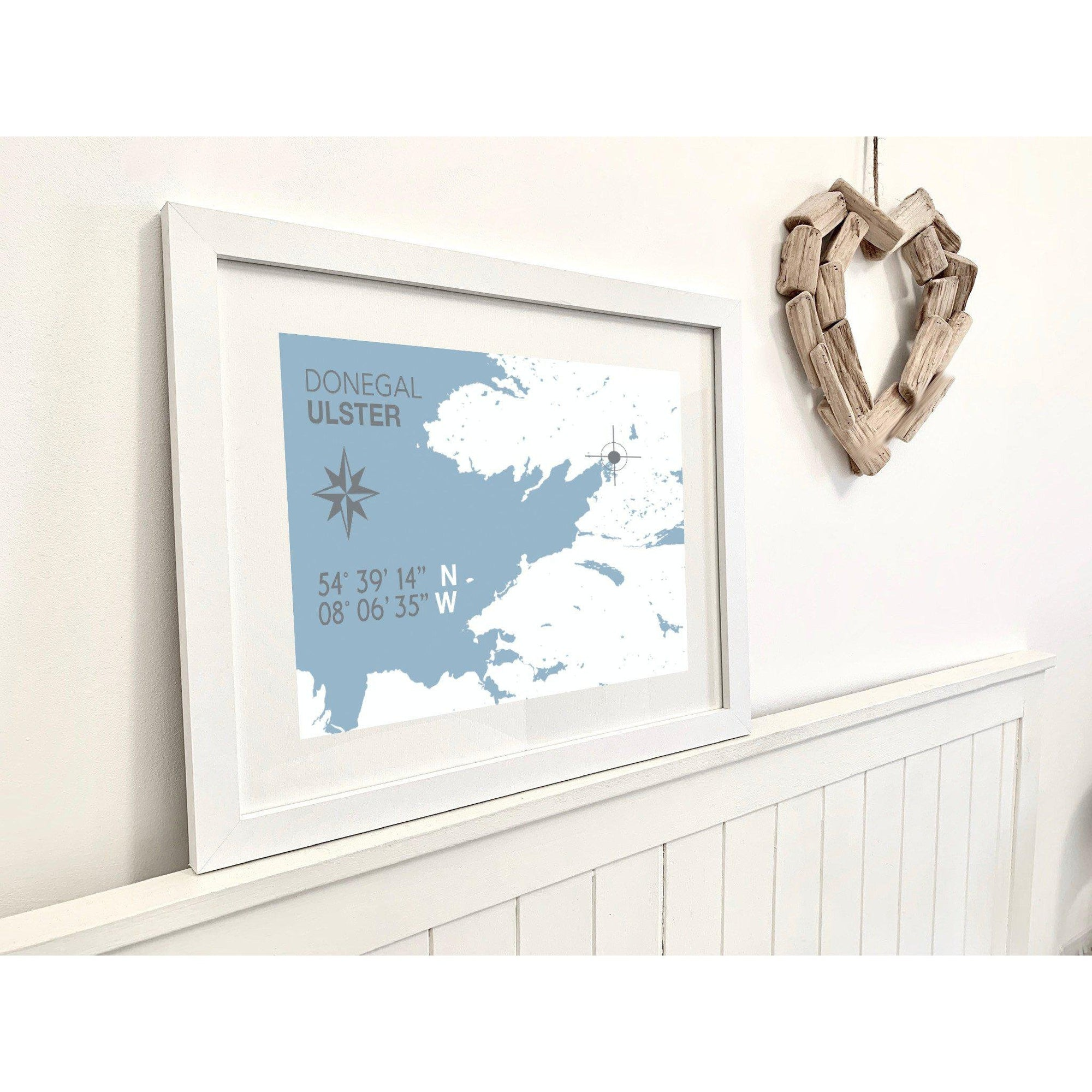 Donegal Nautical Map Print - Coastal Wall Art /Poster-SeaKisses