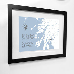 Dunoon Map Travel Print- Coastal Wall Art /Poster-SeaKisses