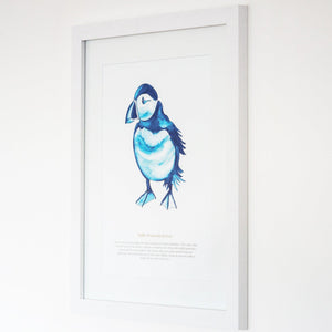 Puffin Watercolour Print SeaKisses Wall Art-SeaKisses
