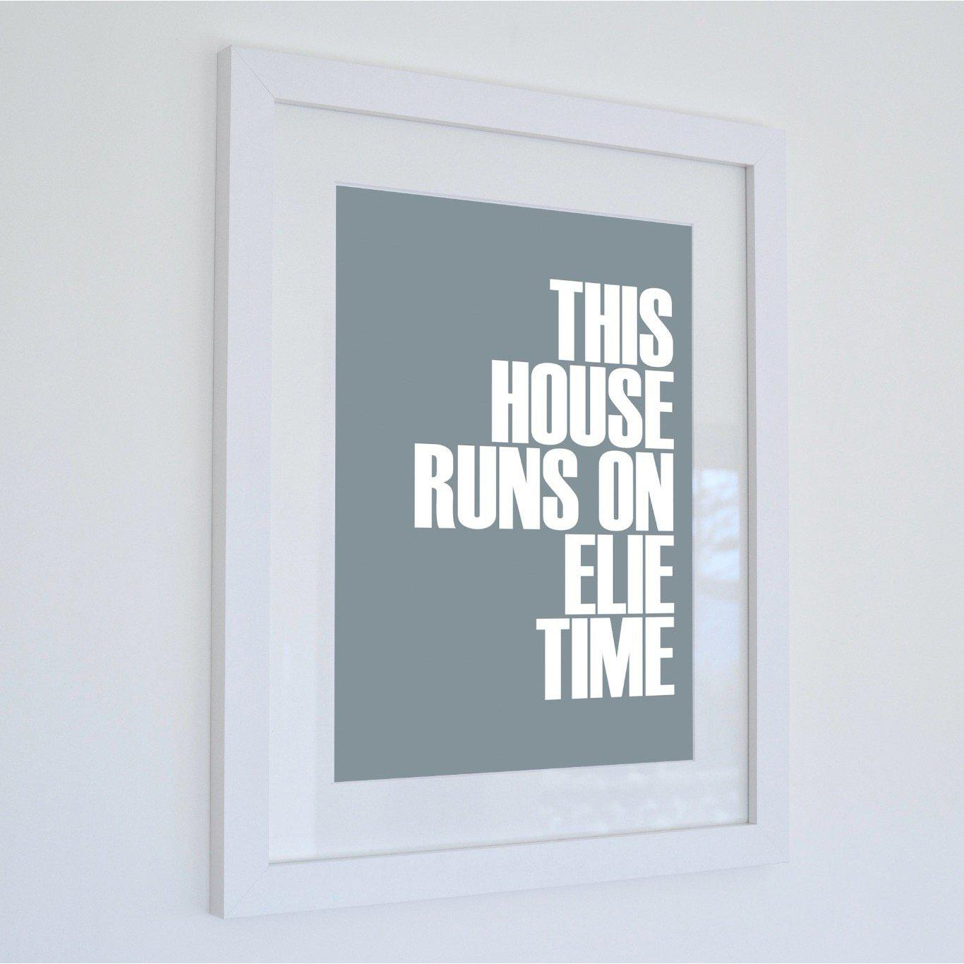 Elie Time Typographic Travel Print - Coastal Wall Art /Poster-SeaKisses