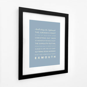 Exmouth Typographic Travel Print - Coastal Wall Art /Poster-SeaKisses