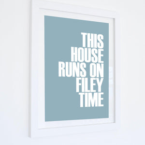 Filey Time Typographic Seaside Print - Coastal Wall Art /Poster-SeaKisses