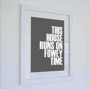 Fowey Time Typographic Seaside Print - Coastal Wall Art /Poster-SeaKisses