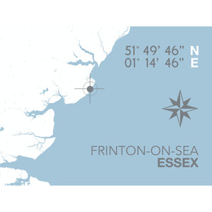 Frinton-on-Sea Map Travel Print- Coastal Wall Art /Poster-SeaKisses