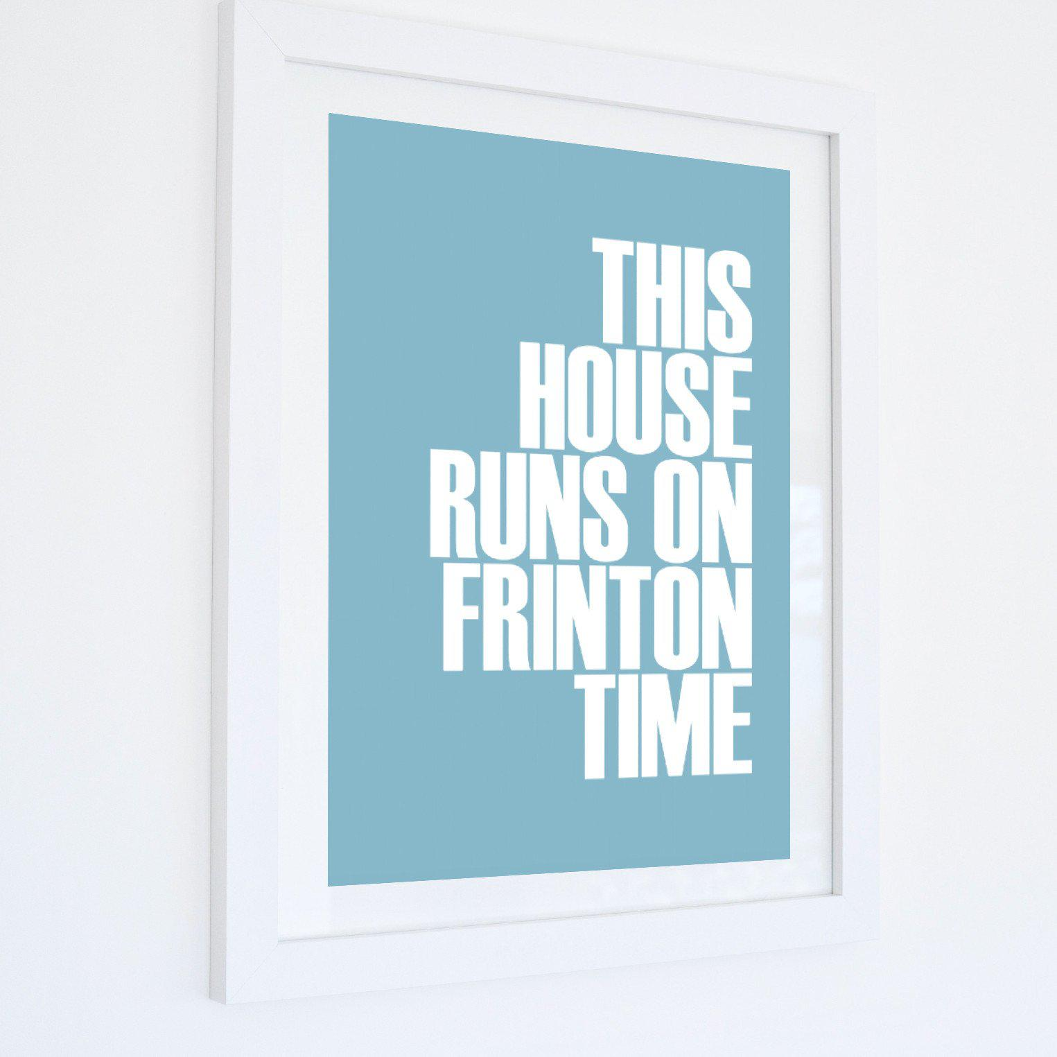 Frinton-on-Sea Time Typographic Travel Print- Coastal Wall Art /Poster-SeaKisses