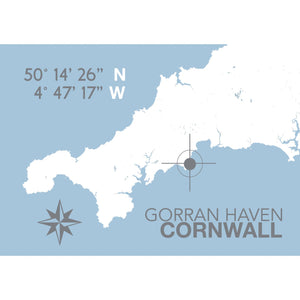 Gorran Haven Map Print- Coastal Wall Art /Poster-SeaKisses