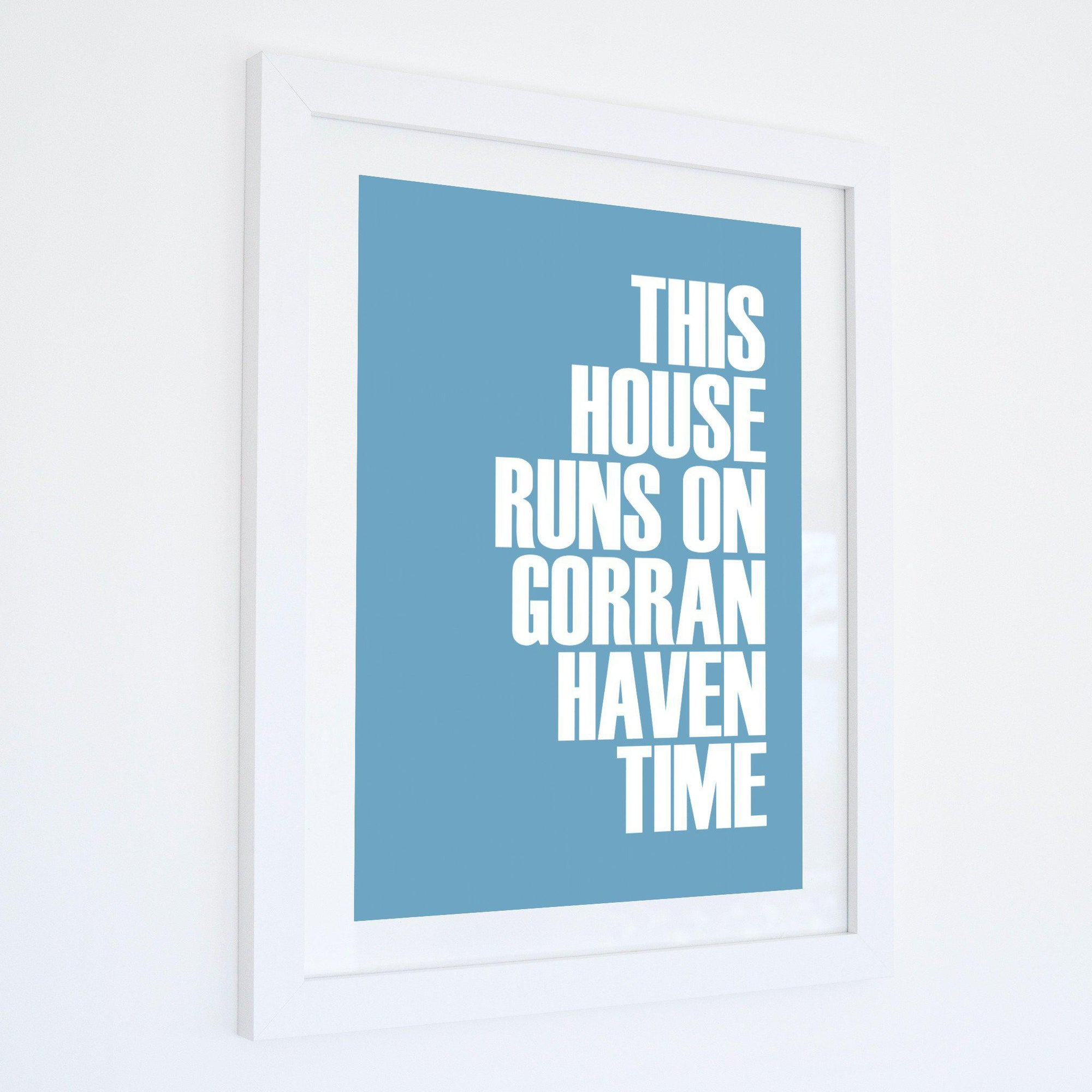 Gorran Haven Time Typographic Print - Coastal Wall Art /Poster-SeaKisses