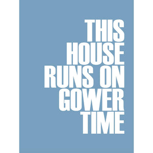Gower Time Typographic Travel Print- Coastal Wall Art /Poster-SeaKisses