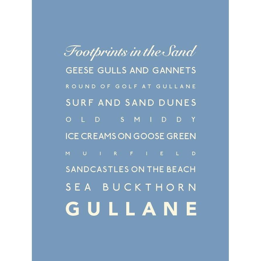 Gullane Typographic Travel Print/Poster Seaside Art by SeaKisses