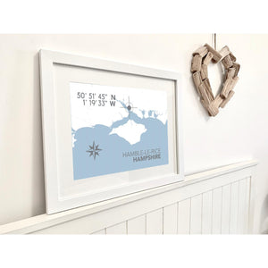 Hamble le Rice Map Travel Print- Coastal Wall Art /Poster-SeaKisses