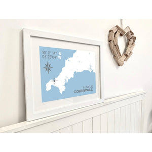 Hayle Map Travel Print- Coastal Wall Art /Poster-SeaKisses