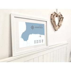 Holt Map Travel Print- Coastal Wall Art /Poster-SeaKisses