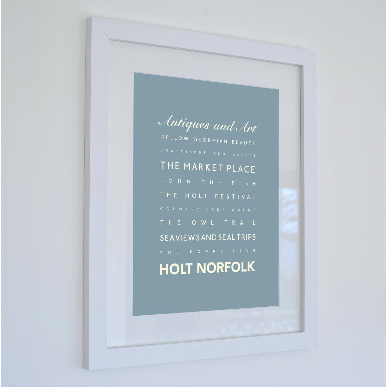 Holt Typographic Travel Print- Coastal Wall Art /Poster-SeaKisses