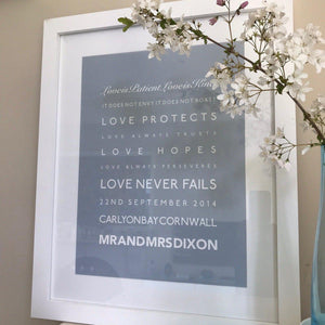 Love is Patient - Wedding Gift Framed Print-SeaKisses