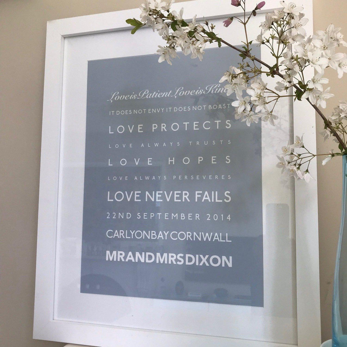 Bespoke Wedding Print Designed by SeaKisses