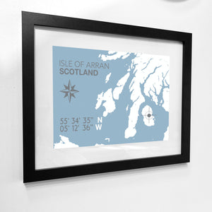 Isle of Arran Map Travel Print- Coastal Wall Art /Poster-SeaKisses