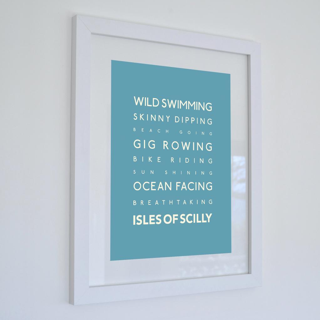 Isles of Scilly Typographic Travel Print- Coastal Wall Art /Poster-SeaKisses
