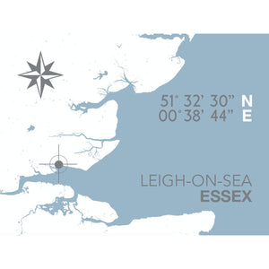 Leigh-on-Sea Map Travel Print- Coastal Wall Art /Poster-SeaKisses