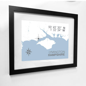 Lymington Map Travel Print- Coastal Wall Art /Poster-SeaKisses