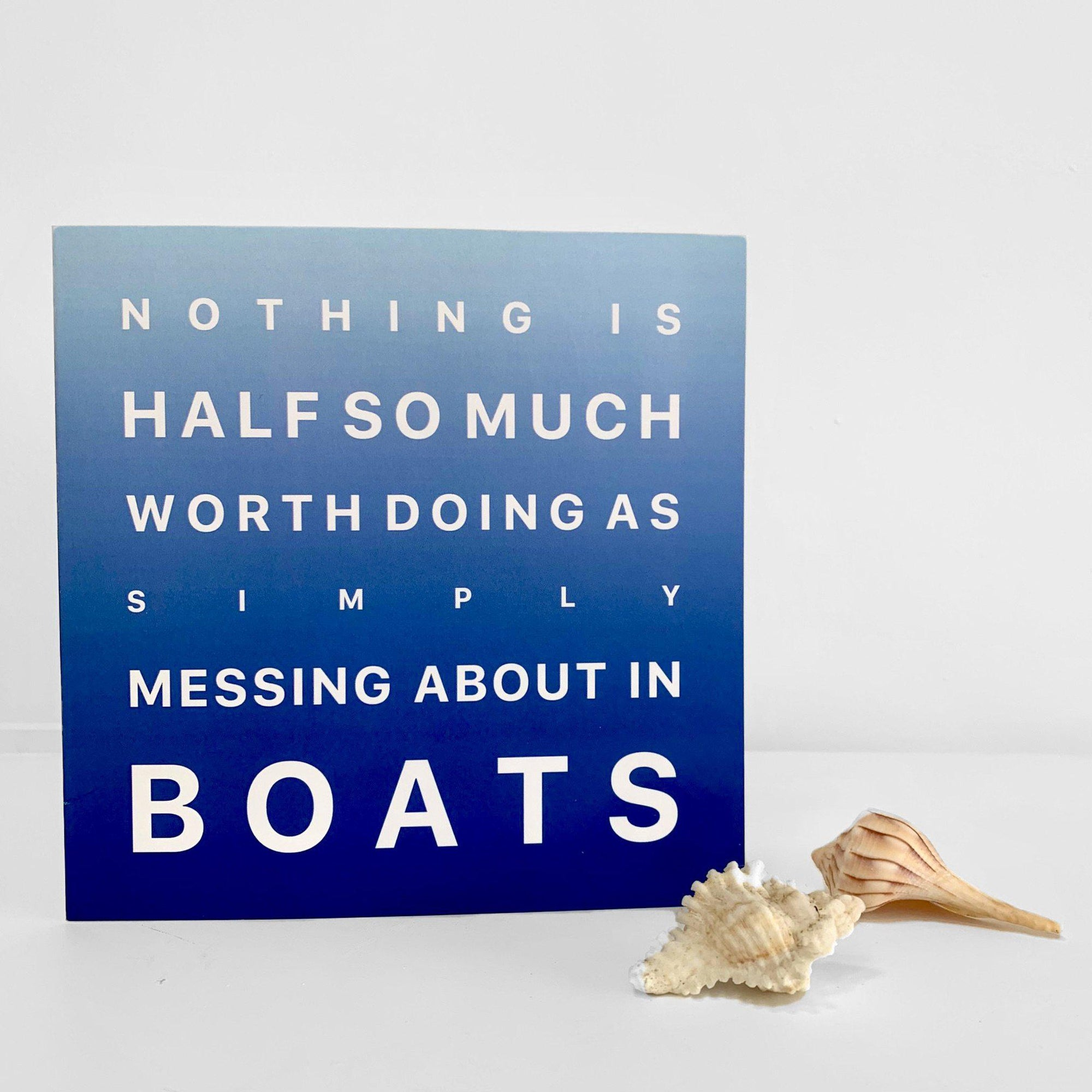Messing About in Boats - Greeting Card-SeaKisses
