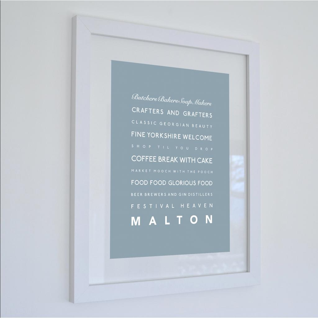 Malton Typographic Travel Print- Coastal Wall Art /Poster-SeaKisses