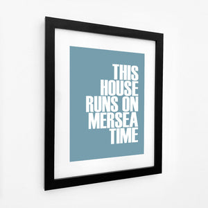 Mersea Time Typographic Travel Print- Coastal Wall Art /Poster-SeaKisses