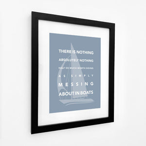 Messing About in Boats Typographic Sailing Print - Coastal Wall Art /Poster-SeaKisses