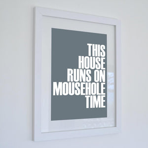 Mousehole Time Typographic Travel Print - Coastal Wall Art /Poster-SeaKisses