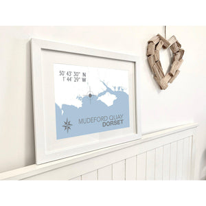 Mudeford Map Travel Print- Coastal Wall Art /Poster-SeaKisses