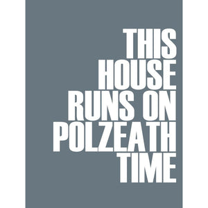 Polzeath Time Typographic Travel and Seaside Print by SeaKisses