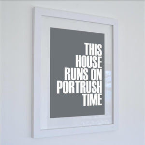 Portrush Time Typographic Print- Coastal Wall Art /Poster-SeaKisses