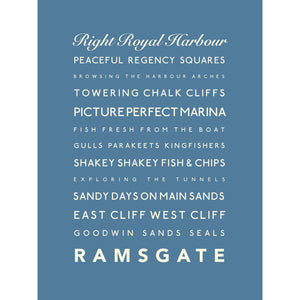 Ramsgate Typographic Seaside Print - Coastal Wall Art /Poster-SeaKisses