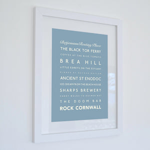 Rock Typographic Travel Print- Coastal Wall Art /Poster-SeaKisses