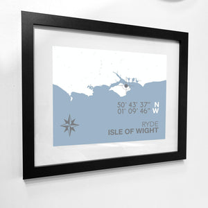Ryde Map Travel Print- Coastal Wall Art /Poster-SeaKisses