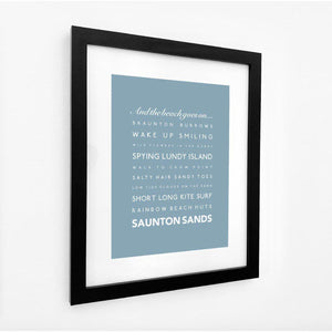 Saunton Sands Seaside Travel Print- Coastal Wall Art /Poster-SeaKisses