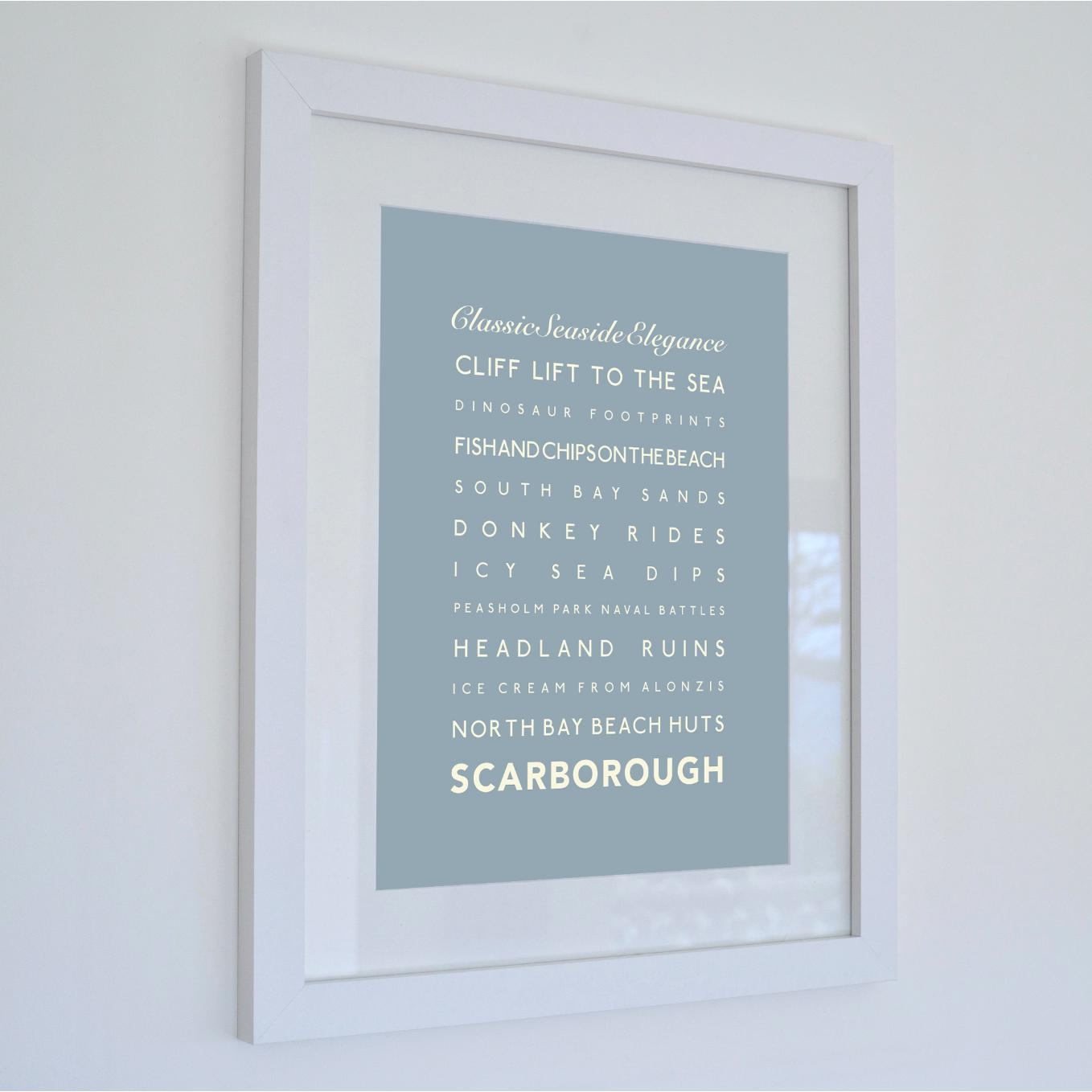 Scarborough Typographic Seaside Print - Coastal Wall Art /Poster-SeaKisses
