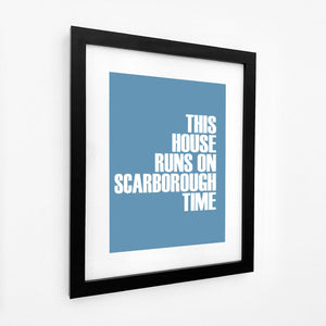 Scarborough Time Typographic Seaside Print - Coastal Wall Art /Poster-SeaKisses