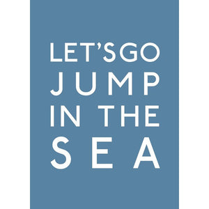 Jump In The Sea Typographic Travel Print/Poster Seaside Art by SeaKisses