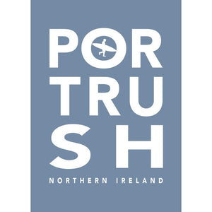 Portrush Surf Typographic Seaside Wall Art-SeaKisses