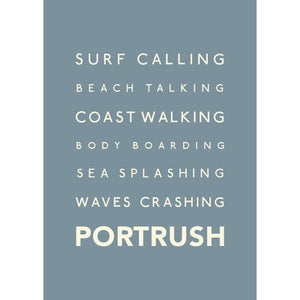 Portrush Typographic Travel Print- Coastal Wall Art /Poster-SeaKisses