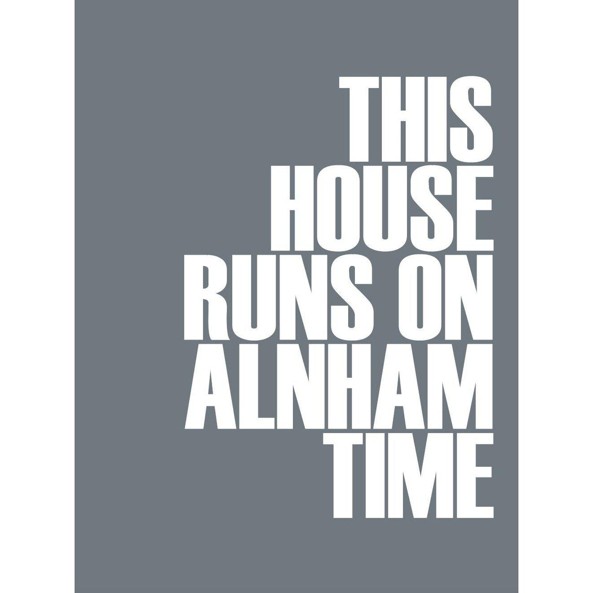 Alnham Time Typographic Travel Print Coastal Wall Art by SeaKisses