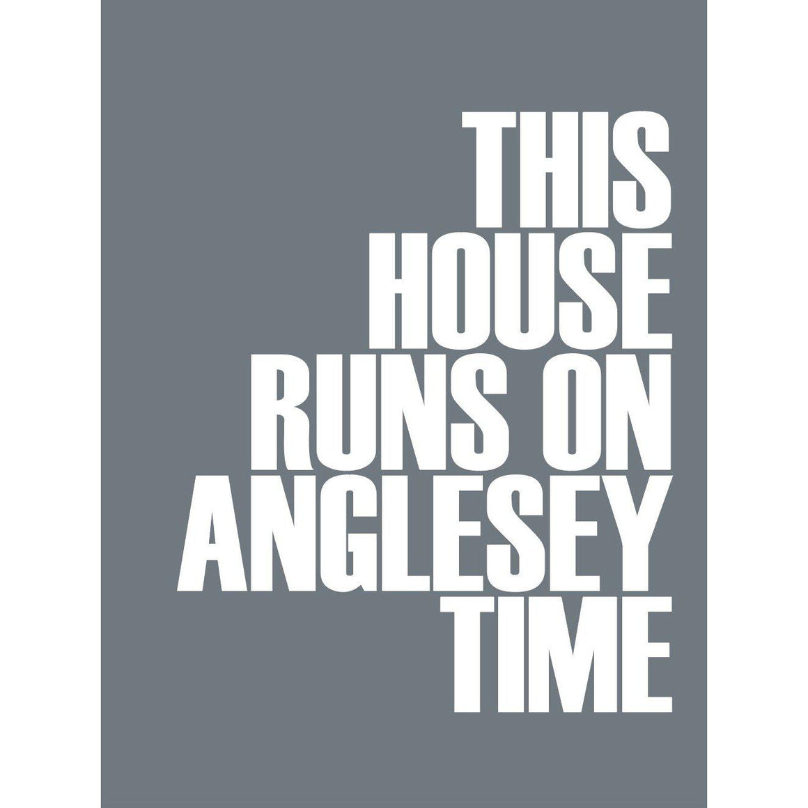 Anglesey Time Typographic Print- Coastal Wall Art