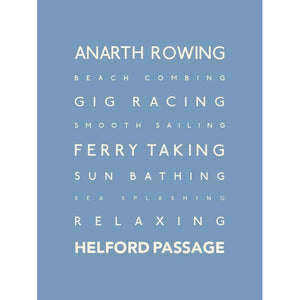Helford Typographic Travel Print - Coastal Wall Art /Poster-SeaKisses