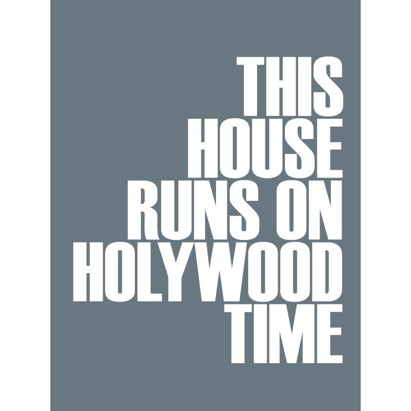 Holywood Time Typographic Travel Print - Coastal Wall Art