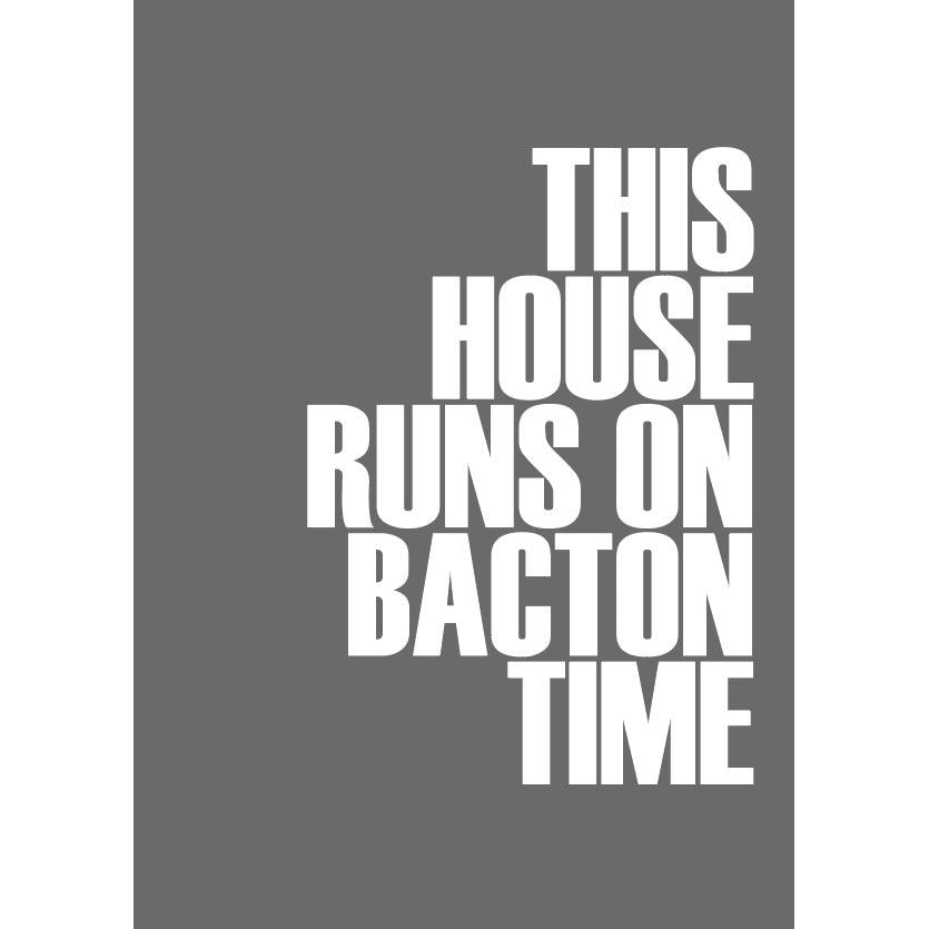 Bacton Time Typographic Travel Print - Coastal Wall Art