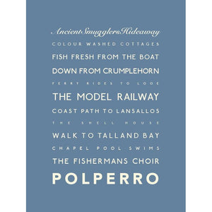 Polperro travel poster wall art print