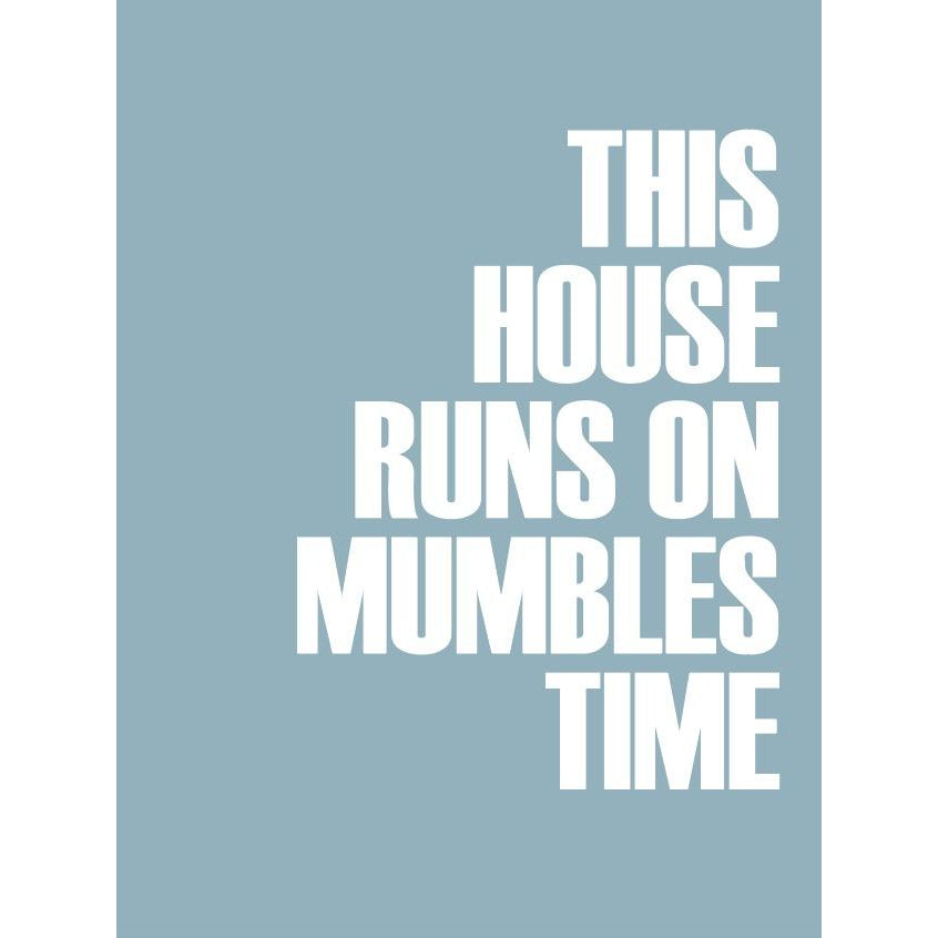 Mumbles Time Typographic Travel Print - Coastal Wall Art